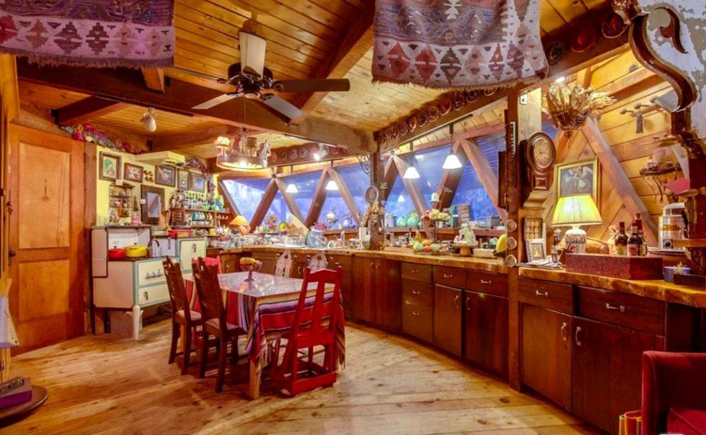 Dome house topanga canyon kitchen