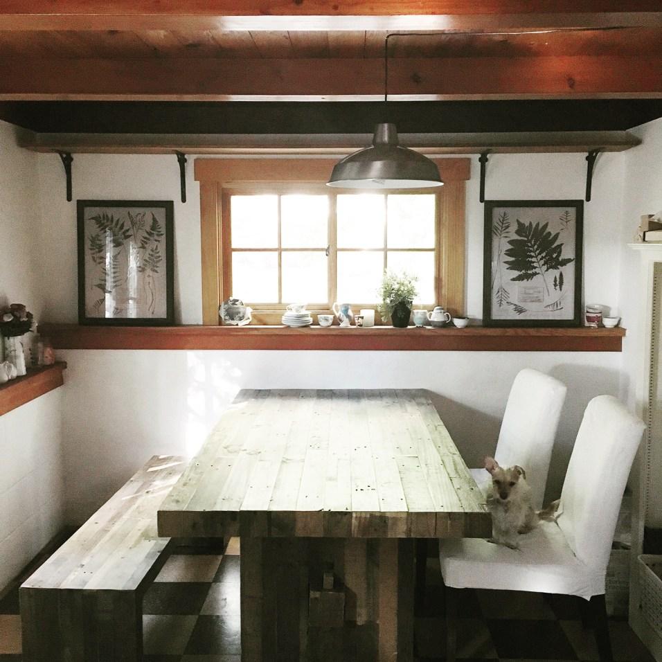 dine in kitchen rustic modern
