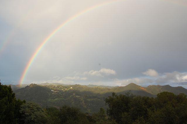 rainbow over Topanga State Park