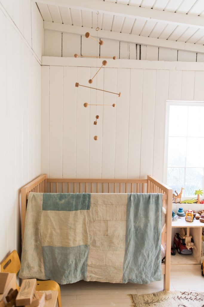 Baby's room neutral soft wood white