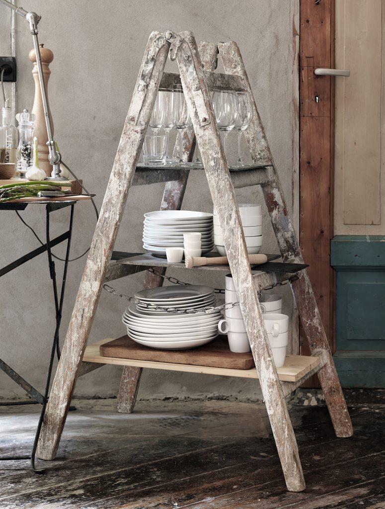 step ladder shelf repurposed rustic