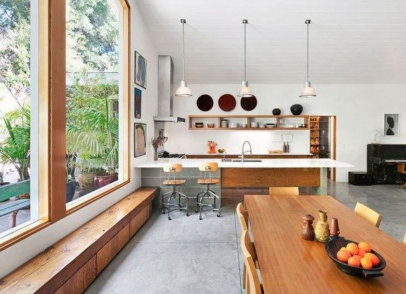 open dining kitchen modern home