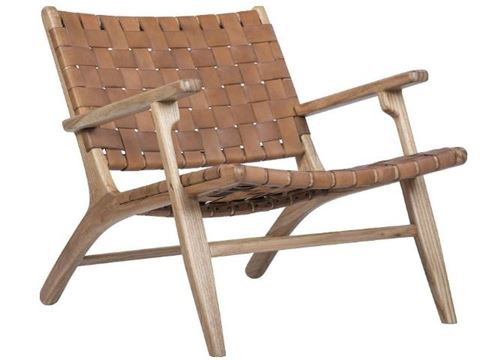 modern arm chair wood and leather