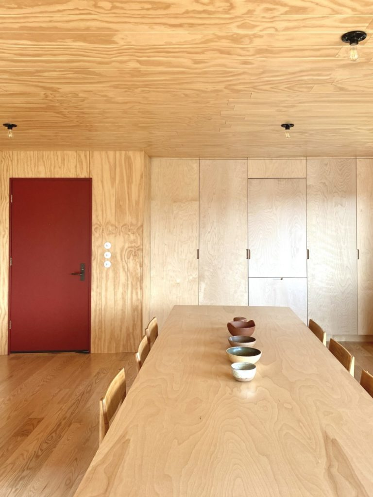 wood ceiling dining room