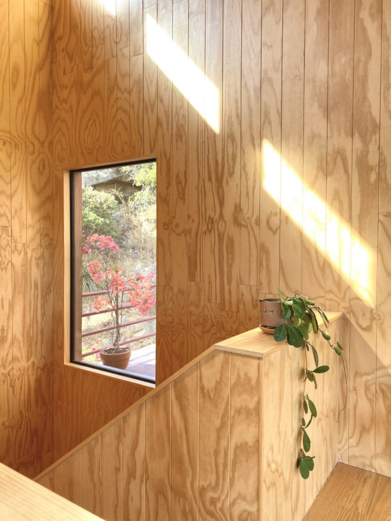 wood walls with window