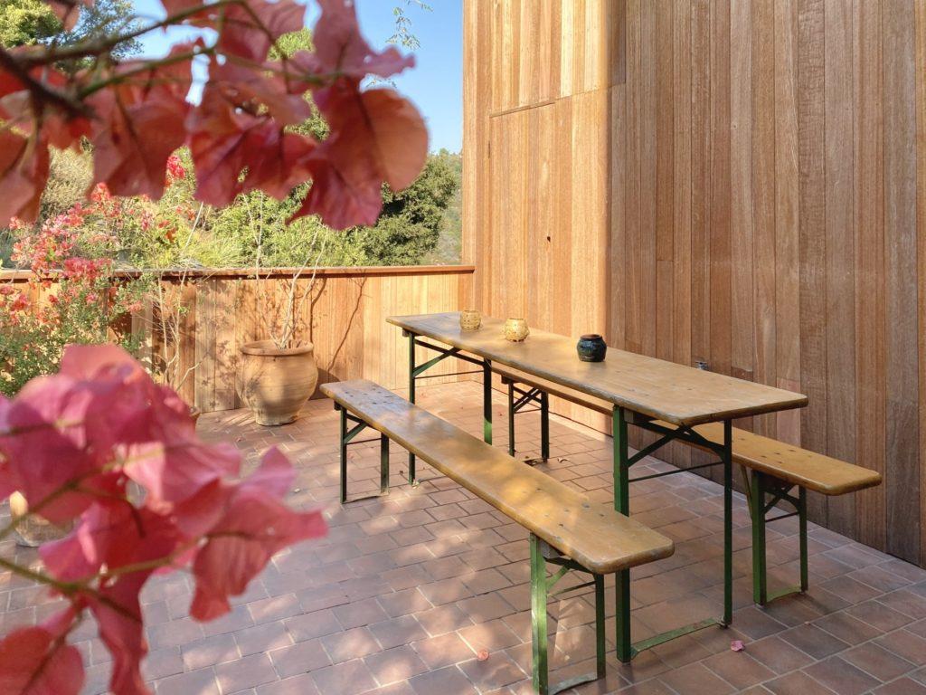refurbished picnic table