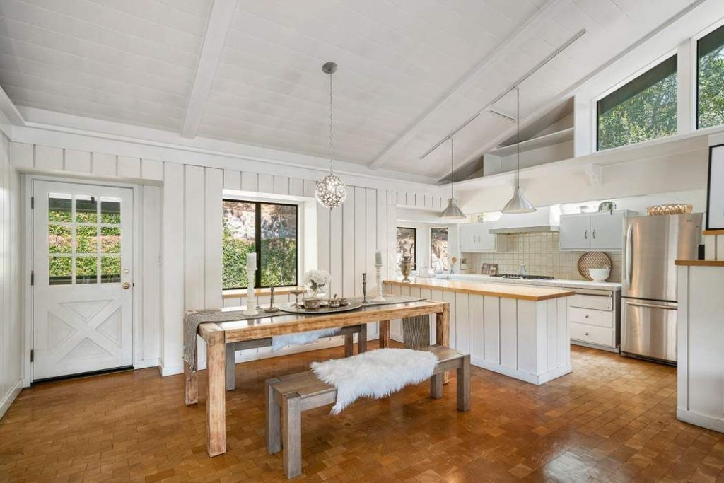 open kitchen and dining farmhouse