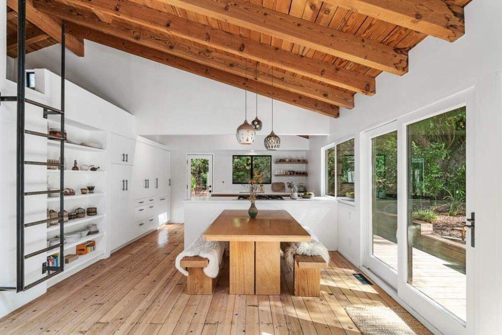 modern rustic Topanga Canyon home dinning room