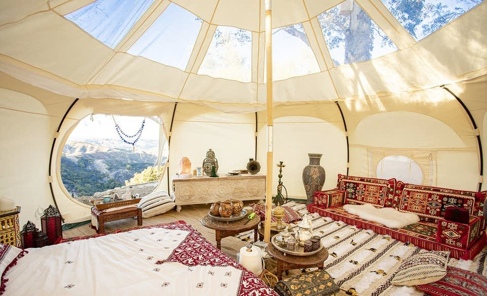 moroccan style tent